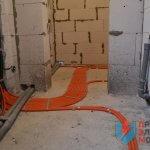 прокладка кабеля в гофре по полу