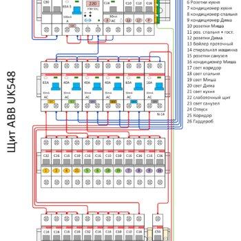 схема электрощита abb